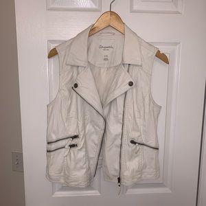 Jackets & Blazers - faux leather moto vest